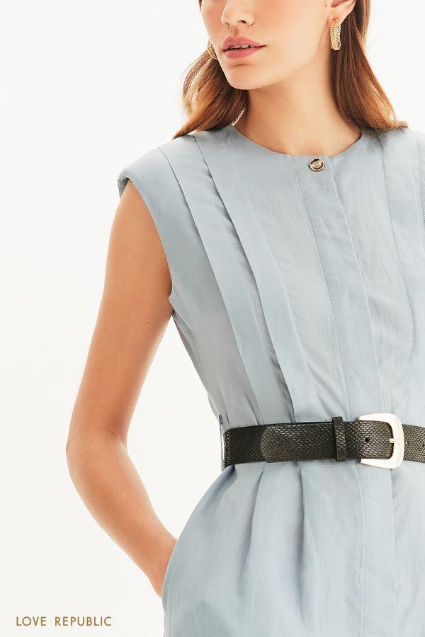 Легкое платье с поясом 1254028527-13