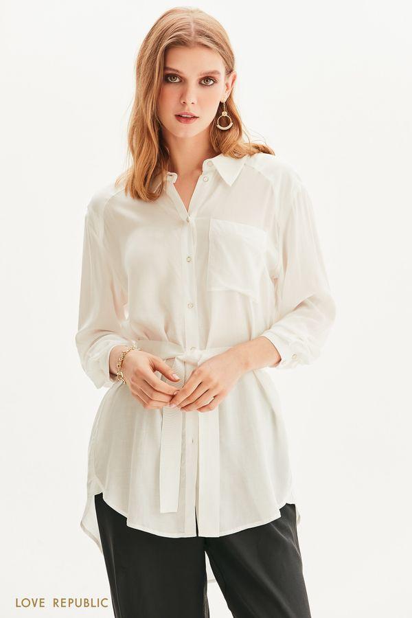 Рубашка-туника с поясом 1254032326-1