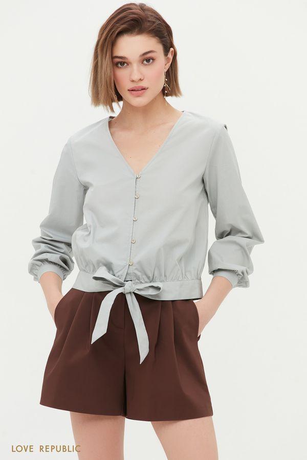 Блузка на завязках 1254036317-62