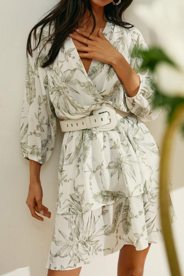 Платье-мини с оборками на подоле 1254057572-15