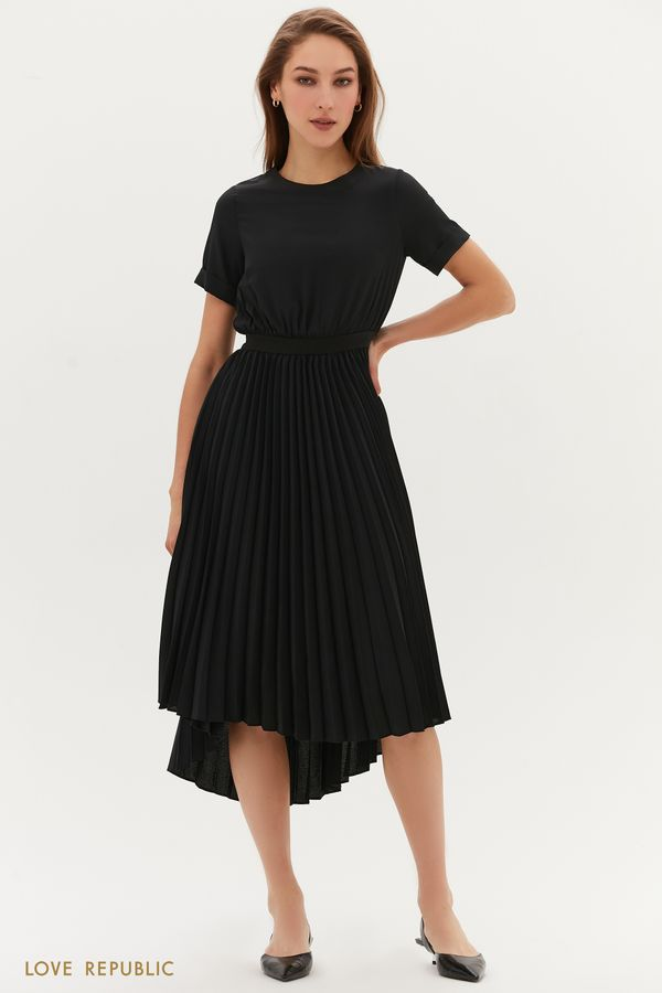 Платье миди с плиссированной юбкой 1254059573-47