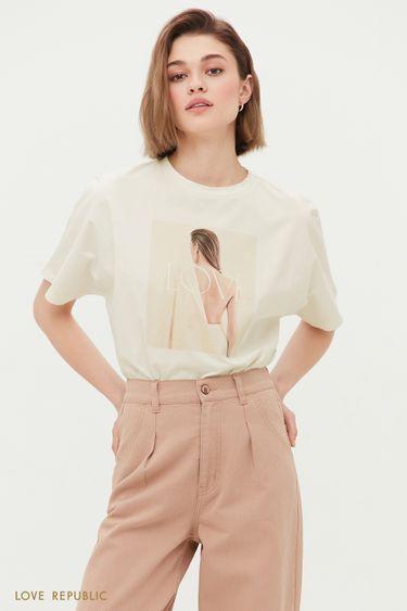 Oversize футболка Love 1254146386