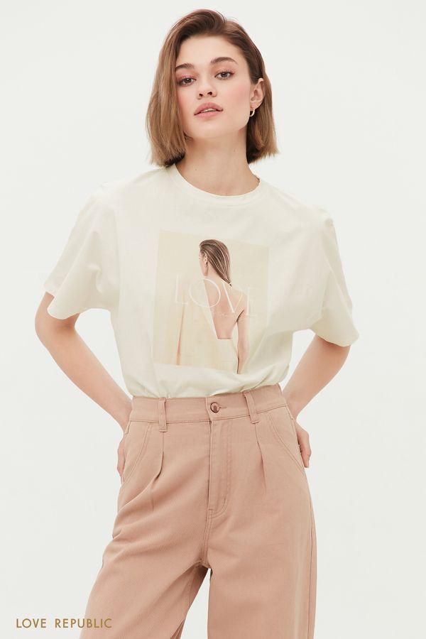 Oversize футболка Love 1254146386-1