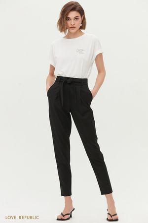 Укороченные брюки с поясом