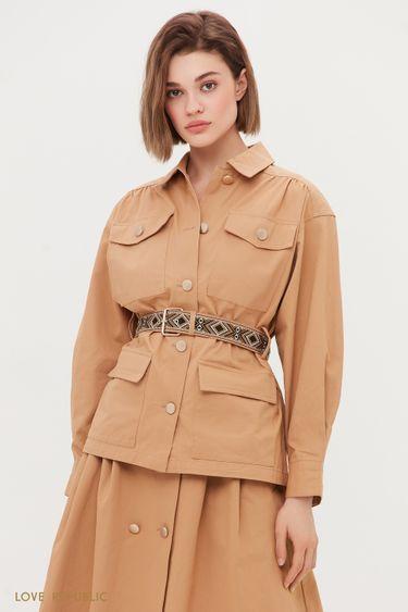 Жакет с накладными карманами 1254212603