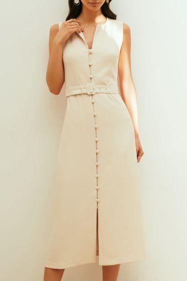 Элегантное платье на пуговицах 1254243561