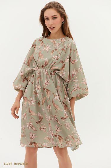 Струящееся платье с цветочным принтом 1254245564