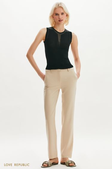 Классические брюки кремового оттенка 1254248760