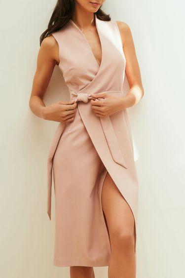Платье-миди на запах 1254256578