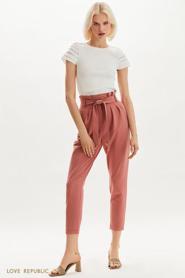 Укороченные брюки с высокой посадкой 1254263769