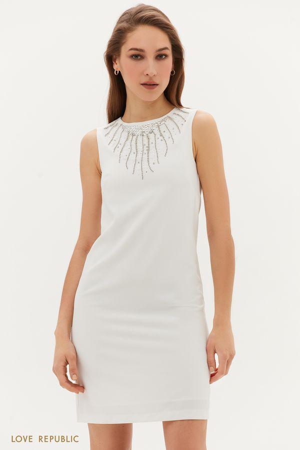 Платье с вышивкой из пайеток 1254218516-60