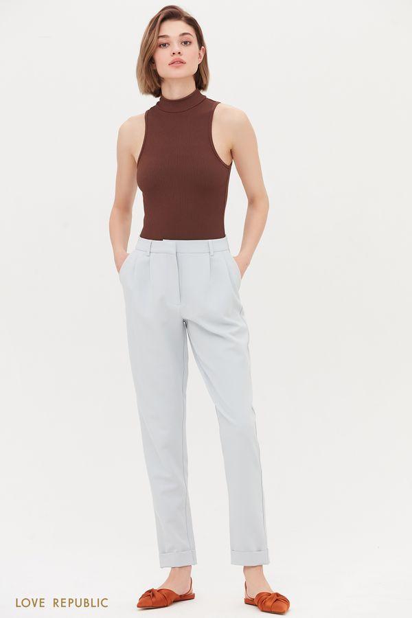Классические брюки средней посадки 1254220725-62