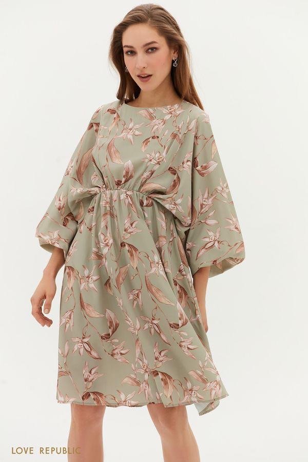 Струящееся платье с цветочным принтом 1254245564-14