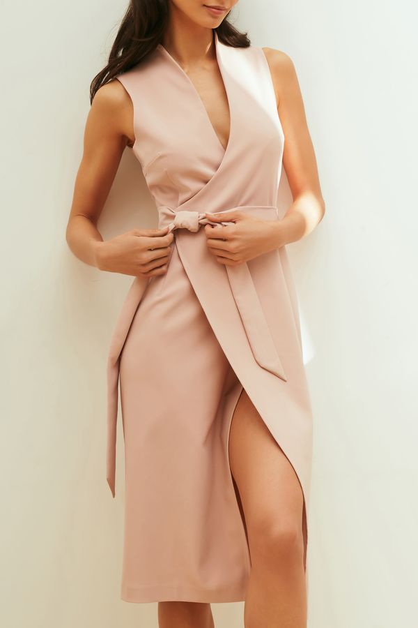 Платье миди на запах 1254256578-92