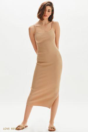 Платье-лапша с боковым вырезом