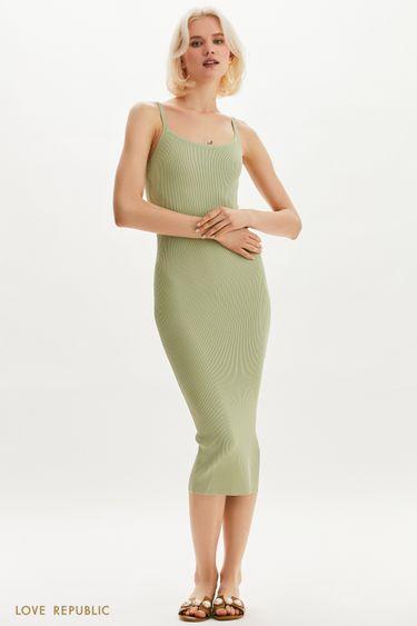 Платье-лапша с боковым вырезом 1254311576