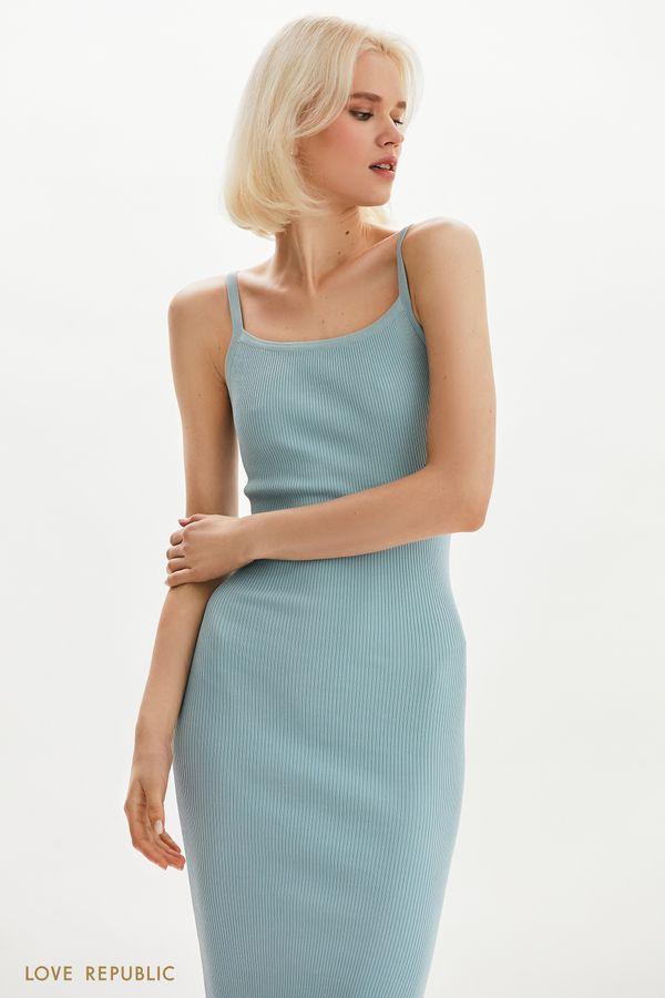 Платье-лапша с боковым вырезом 1254311576-50