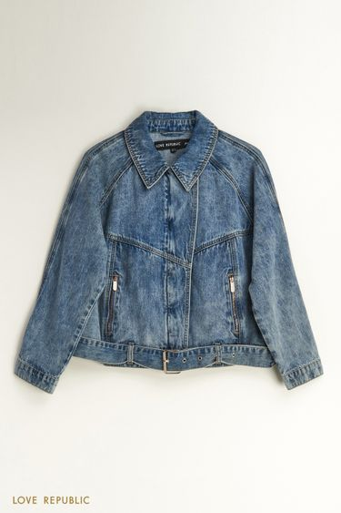 Джинсовая куртка-косуха 1254425106