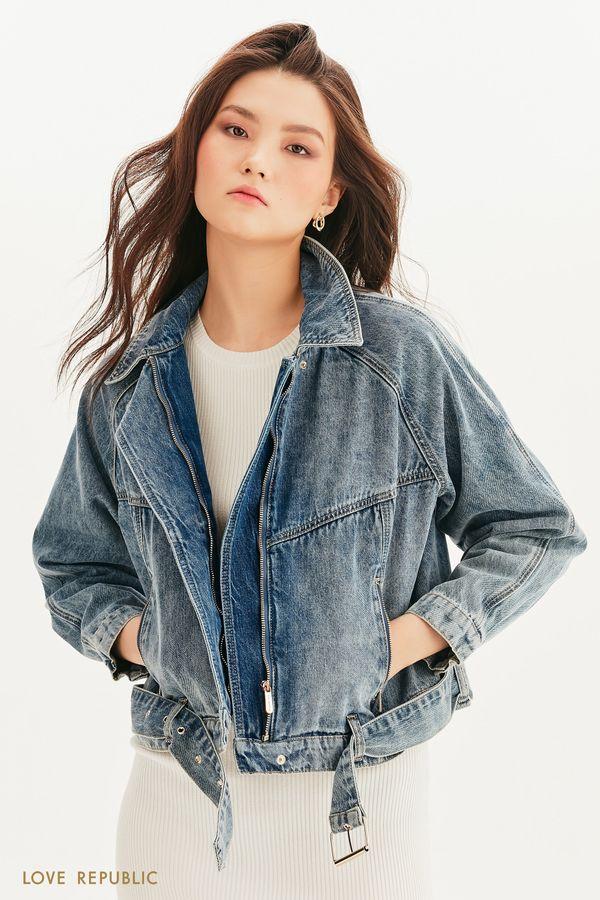 Джинсовая куртка-косуха 1254425106-103