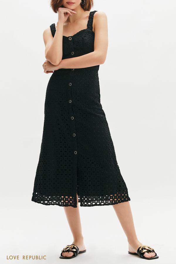Сарафан с вышивкой ришелье 1255026559-50