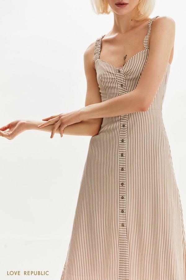 Женственный сарафан на пуговицах 1255027559-65