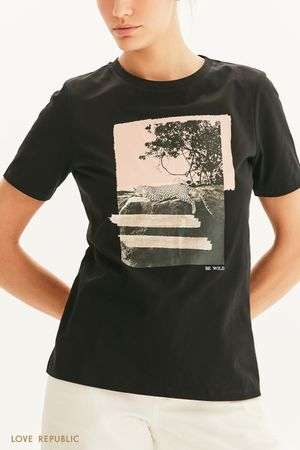 Oversize футболка Be wild