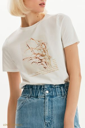 Белая футболка Favorite things