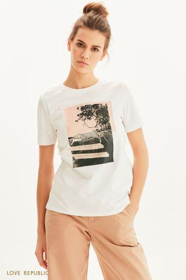 Oversize футболка Be wild 1255107319