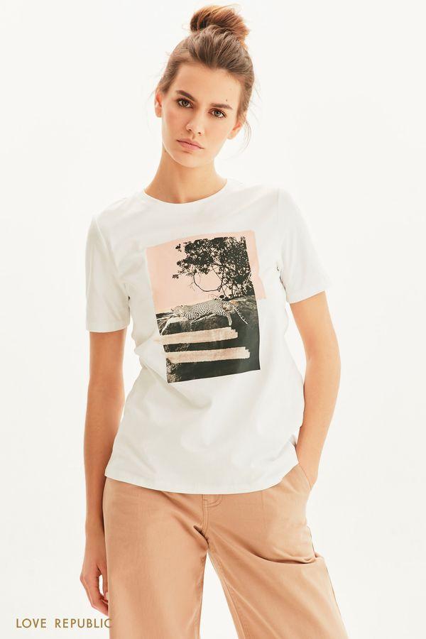 Oversize футболка Be wild 1255107319-1