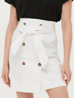 Двубортная юбка мини