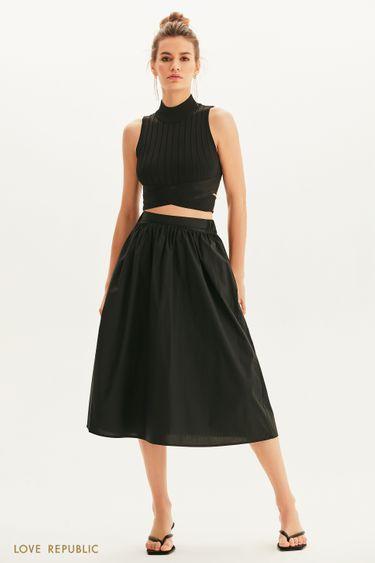 Базовая юбка миди на резинке 1255202202