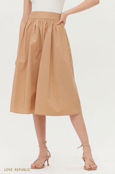 Базовая юбка-миди на резинке 1255202202