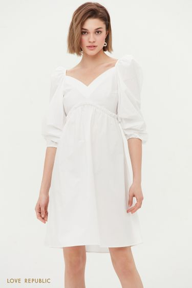 Хлопковое платье с завышенной талией 1255202537