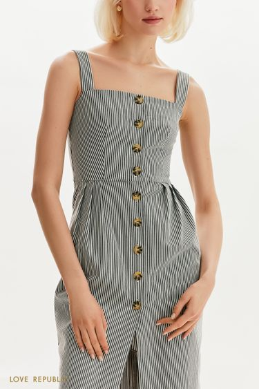 Платье-сарафан на пуговицах 1255222535