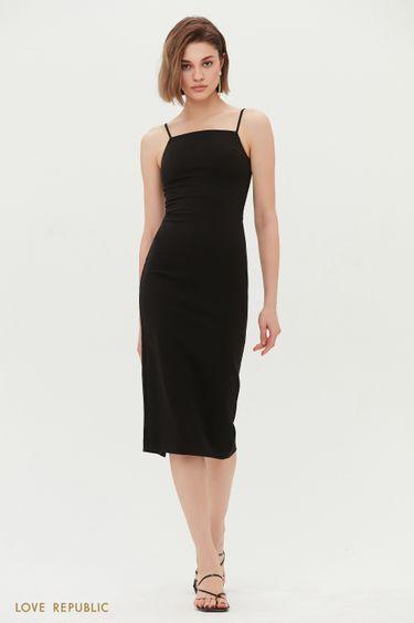 Платье-футляр на тонких бретельках 1255223536