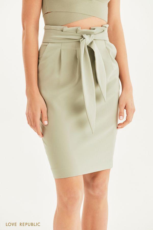 Базовая юбка с поясом 1255231205-13