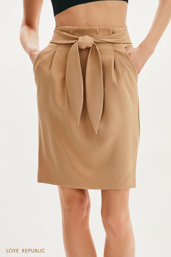 Базовая юбка с поясом 1255231205-47
