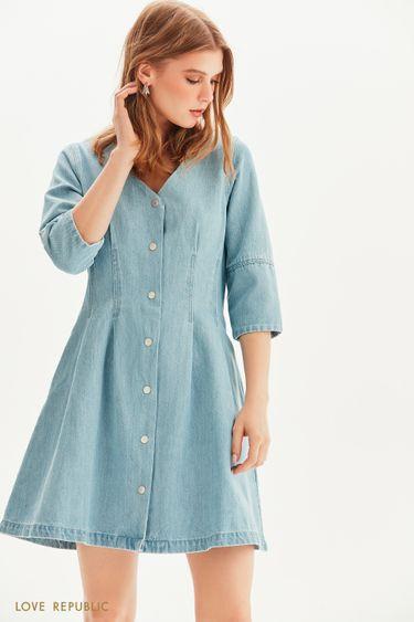 Джинсовое платье на заклепках 1255431571