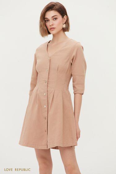 Джинсовое платье на заклепках 1255432571