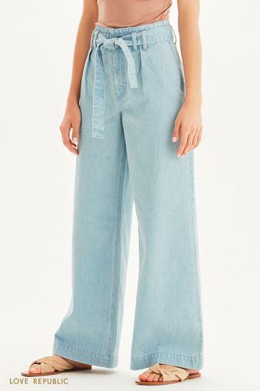 Широкие джинсы с высокой посадкой 1255452756