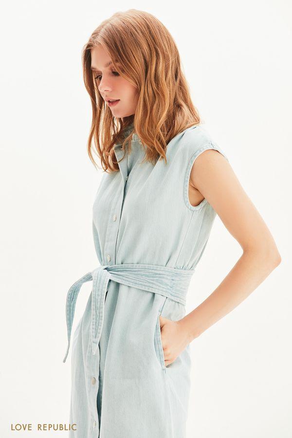 Платье-рубашка из денима 1255431570-102