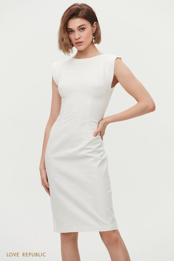 Платье-футляр из денима 1255440584-1