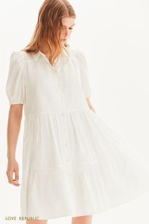 Платье-парашют на пуговицах