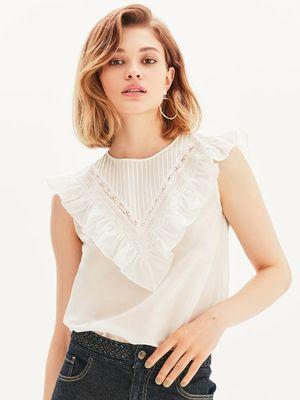 Женственная блузка с хлопковым кружевом