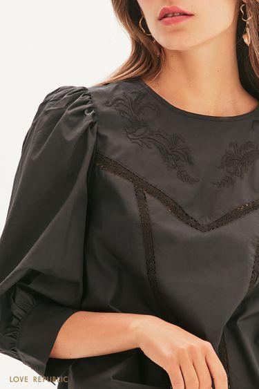 Романтичная блузка с кружевом 1256083380