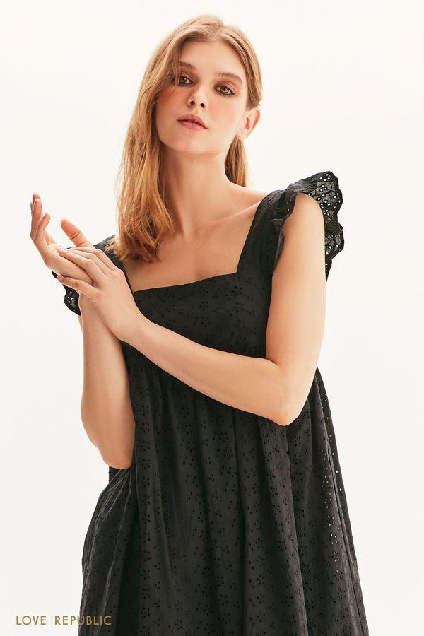Платье мини с завышенной талией 1256013511-50