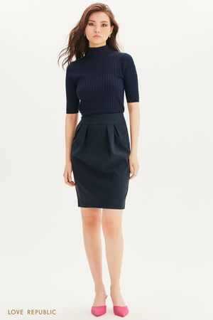 Базовая юбка-тюльпан