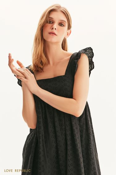 Платье-мини с завышенной талией 1256205521