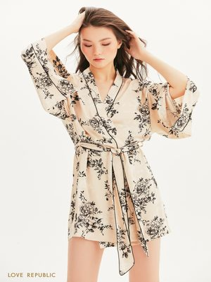 Халат-кимоно из атласа