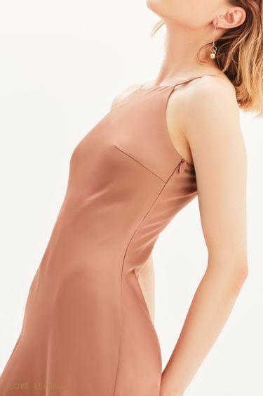 Атласное платье миди 1357005519
